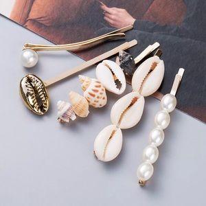 Jewelry - 𝕙𝕡! Seashell Hair Accessory Bobby Pin 5 Piece